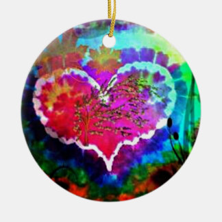Hippy en la colección del regalo del teñido anudad adorno de navidad