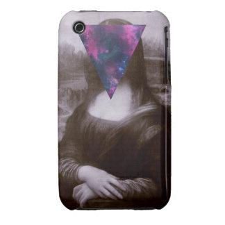 Hipster. de Mona Lisa iPhone 3 Carcasas