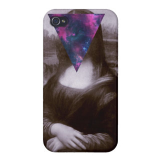 Hipster. de Mona Lisa iPhone 4 Fundas