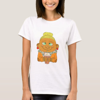 Hipster/del mono rubio camiseta