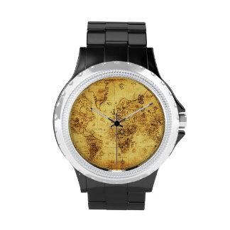 Historia-amante del mapa de Viejo Mundo del Relojes De Pulsera