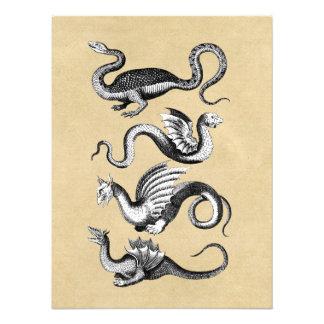Historia de la carta de la pared de los dragones arte con fotos