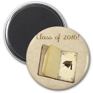 Historia de la graduación, del casquillo de la imán redondo 5 cm