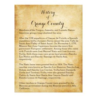 Historia del Condado de Orange Flyer