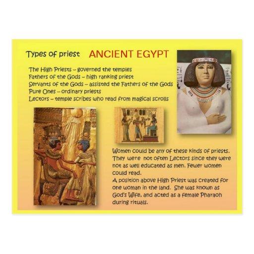 Historia, Egipto antiguo, templos, sacerdotes Tarjetas Postales