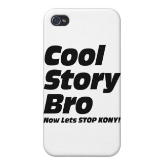 Historia fresca Bro - ahora deja la parada Kony iPhone 4 Protectores