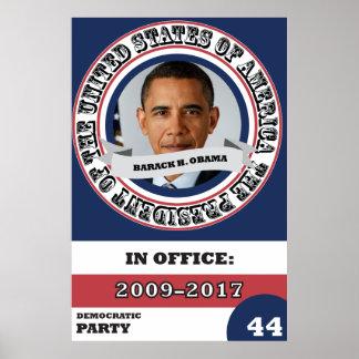 Historia presidencial de Barack Obama retra Póster