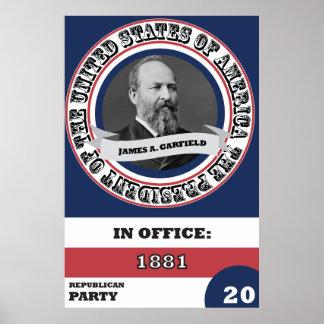 Historia presidencial de James A. Garfield Póster