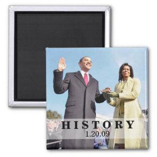 HISTORIA: Presidente Obama Inauguration Imán Cuadrado