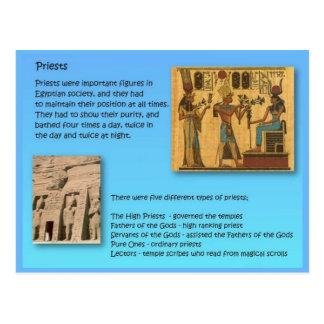 Historia, sacerdote en Egipto antiguo Postal