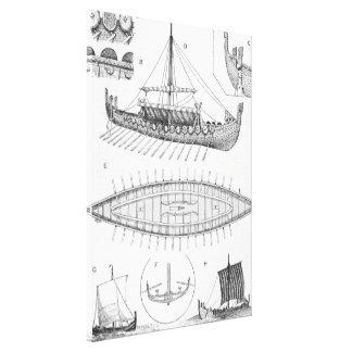 Historia y diagrama de la embarcación de Viking Lienzo