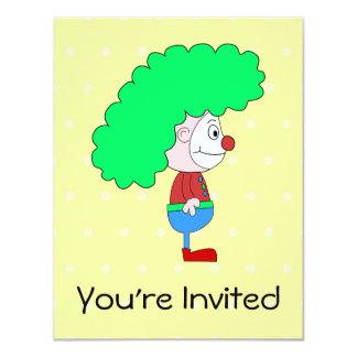 Historieta colorida del payaso invitación 10,8 x 13,9 cm