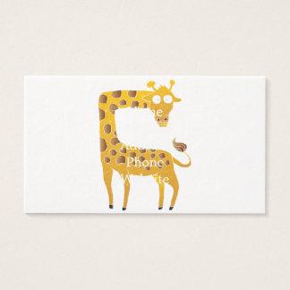 historieta de la jirafa tarjeta de negocios
