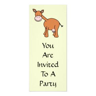 Historieta de la vaca de Brown Invitación 10,1 X 23,5 Cm