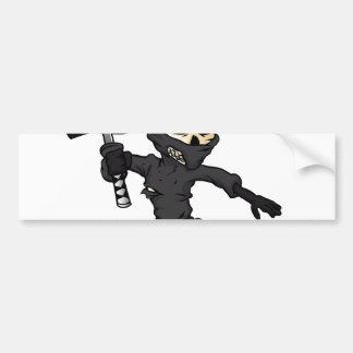 historieta del ninja del cráneo pegatina para coche