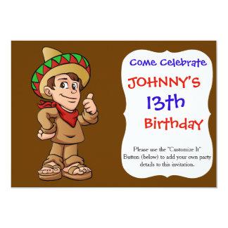 historieta mexicana del niño invitación 12,7 x 17,8 cm