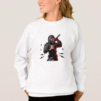 historieta negra del ninja sudadera