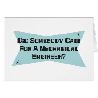 Hizo alguien llamada para un ingeniero industrial tarjeta de felicitación