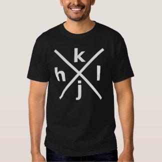 hjkl para los piratas informáticos incondicionales camiseta