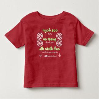 Hmong embroma la camiseta del niño del canal