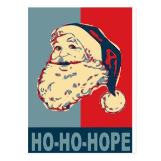 ho-ho-esperanza de santa obama postal