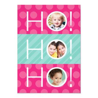 ¡Ho Ho Ho! El doble cara tarjeta del día de fiesta Invitación 12,7 X 17,8 Cm