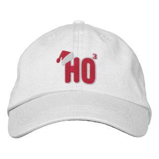 Ho Ho Ho empollón de Santa Gorros Bordados