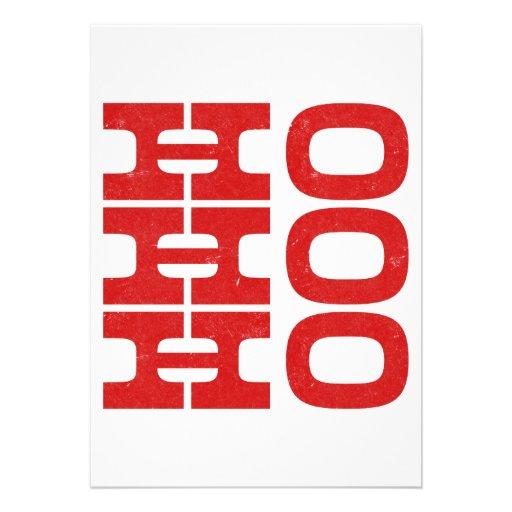 Ho Ho Ho (estilo de la prensa de copiar) Anuncio