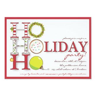 HO HO HO fiesta de Navidad feliz del día de fiesta Invitación 12,7 X 17,8 Cm