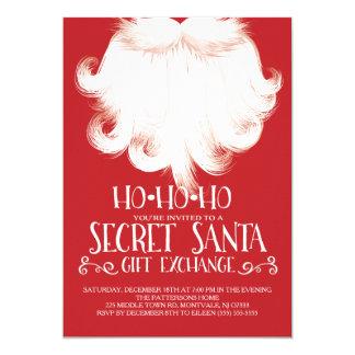 HO HO HO fiesta de Navidad secreta de Santa Invitación 12,7 X 17,8 Cm