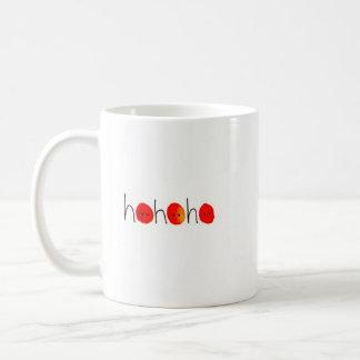 Ho Ho Ho taza pintada a mano roja y negra del
