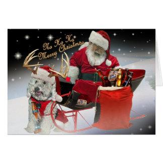 HO HO HO tenga tarjetas de las Felices Navidad