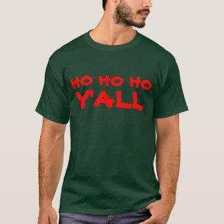 """Ho Ho Ho usted"": Humor de Santa del HillBilly Camiseta"