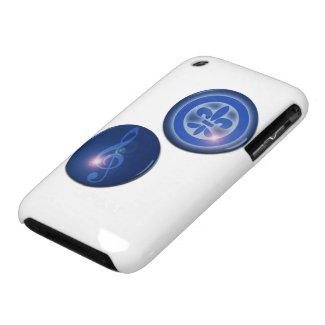 Ho´oponopono Flor de Lis y Clave de Sol iPhone 3 Case-Mate Protector