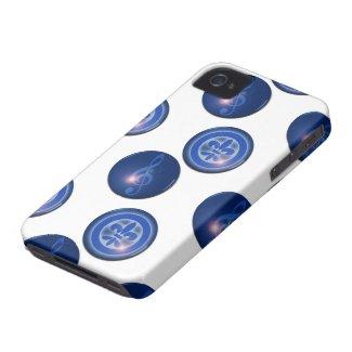 Ho´oponopono Ho Oponopono Flor de lis y Ho Oponopono Clave de Sol iPhone 4 Case-Mate Funda