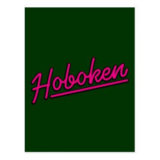 Hoboken en magenta postales