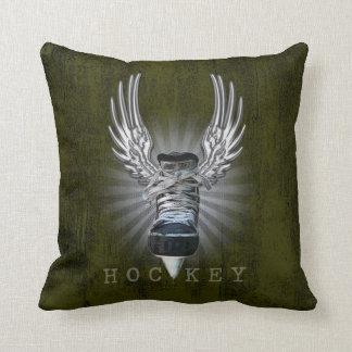 Hockey con alas cojín decorativo