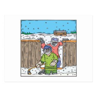 Hockey de la juventud tarjeta postal