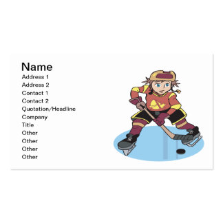 Hockey de la juventud tarjeta de negocio
