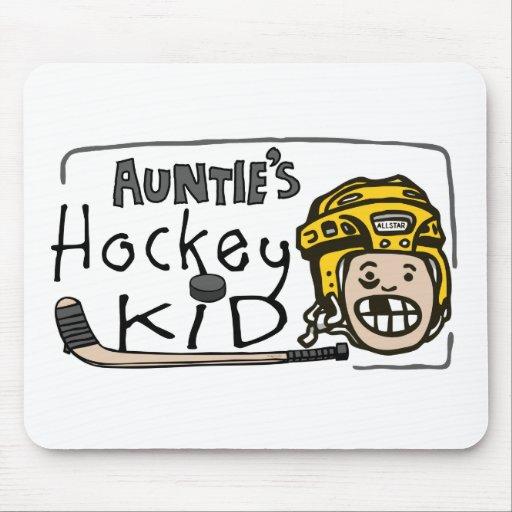 Hockey Kid de tía Tapetes De Raton