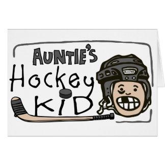 Hockey Kid de tía Tarjeta De Felicitación