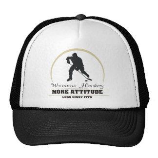 Hockey para mujer divertido más actitud gorro