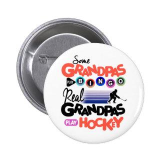Hockey real del juego de los abuelos del bingo del chapa redonda de 5 cm