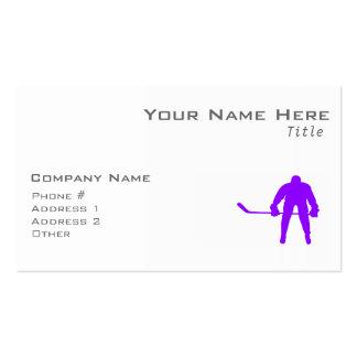 Hockey sobre hielo púrpura violeta tarjetas de visita
