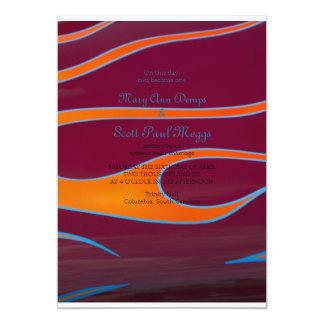 Hodrod anaranjado flamea la invitación invitación 12,7 x 17,8 cm