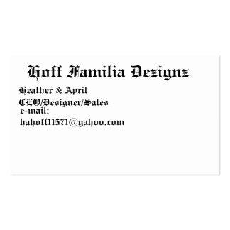 Hoff Familia Dezignz, brezo y abril, CEO/Des… Tarjetas De Visita