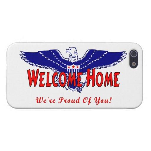 Hogar agradable de los militares iPhone 5 protectores