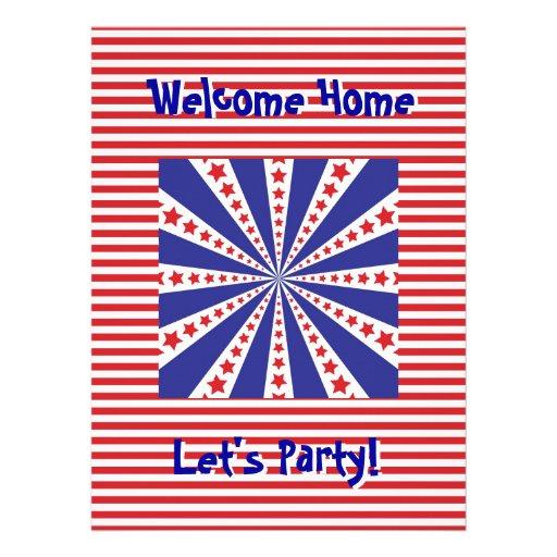Hogar agradable del servicio militar PartyInvitati Invitación Personalizada