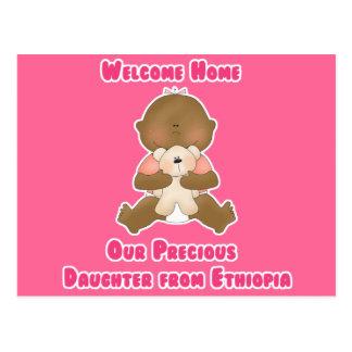 Hogar agradable nuestra hija preciosa tarjeta postal