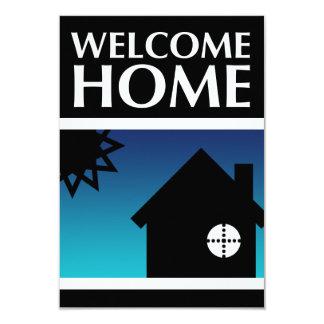 hogar agradable (puesta del sol de la MOD) Invitación 8,9 X 12,7 Cm